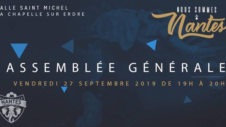 ASSEMBLÉE GÉNÉRALE DU NMF                               VENDREDI 27 SEPTEMBRE 2019