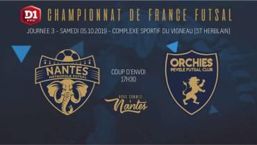 J3 : NMF / Orchies Futsal : Diffusion FFFTV