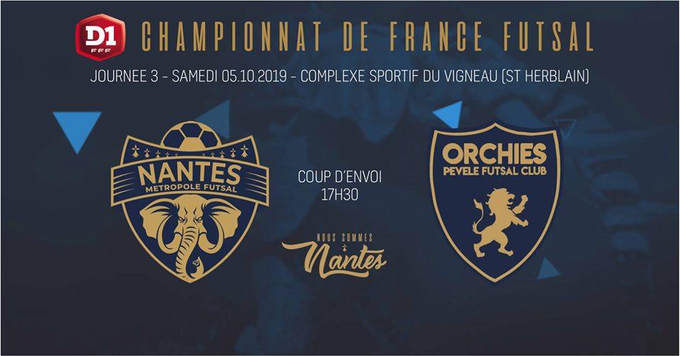 J3 : NMF / Orchies Futsal : Infos et Billetterie