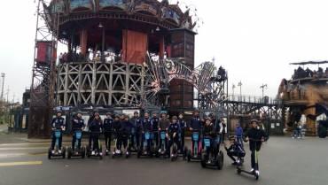 Les U17 en Segway sur l'île de Nantes !