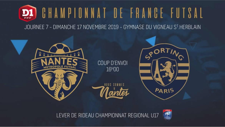 J7 : NMF / Sporting Paris | Infos et Billetterie