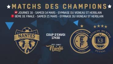 MATCHS DES CHAMPIONS !