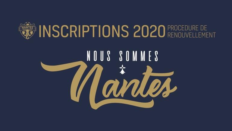 Saison 2020 – Renouvellement et nouvelles inscriptions
